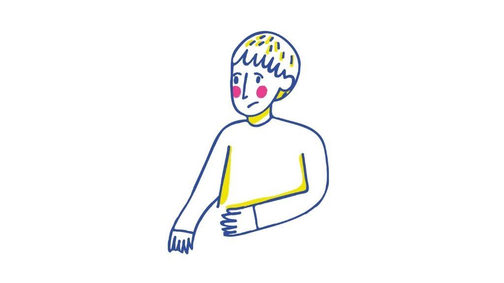 mutsuz bir çocuk çizimi